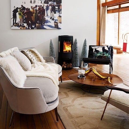 Modern alpine-style living room | Living room decorating | Livingetc | Housetohome.co.uk