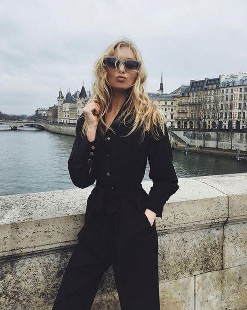Elsa Hosk à Paris