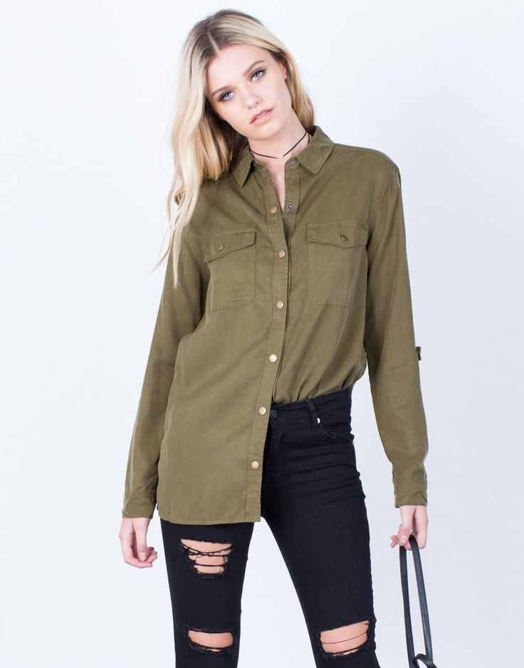 The Olive Button Up Blouse