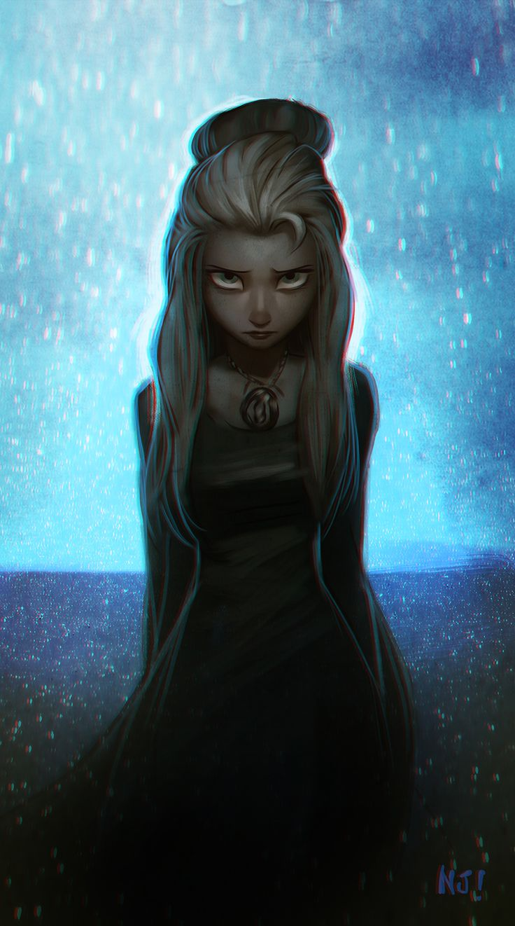 A very very dark Elsa. She reminds me of Carrie from Stephen King's novel.