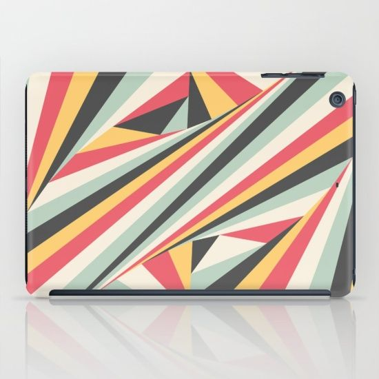 'Twiangle' by Fimbis  #yellow #red #green #charcoal #fashion #geometric #ipad #ipadmini #tech
