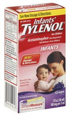 Infants' Tylenol® for Children 1 oz. Acetaminophen Oral Suspension in Grape