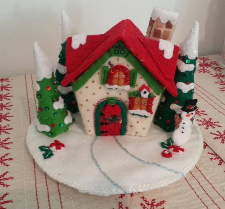 """Bucilla Mary Engelbreit """"Mary's Snow Cottage"""""""