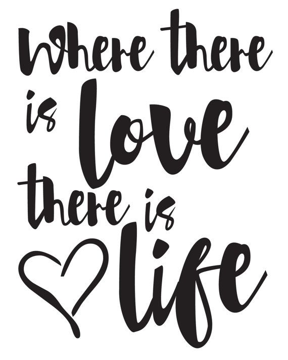 Gandhi Print / Gandhi Quote / Where There Is Love by MadKittyMedia