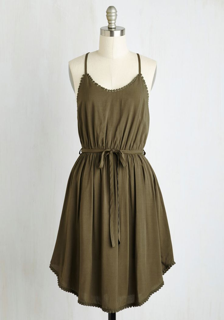 Right to Delight Dress in Olive, #ModCloth