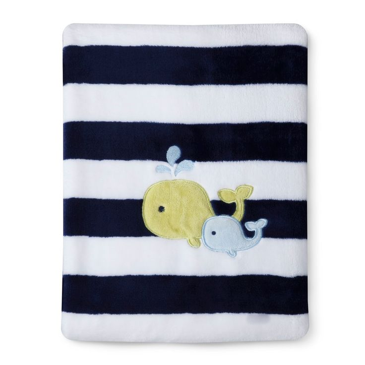 Circo� Super Soft Embroidery Blanket - Whale