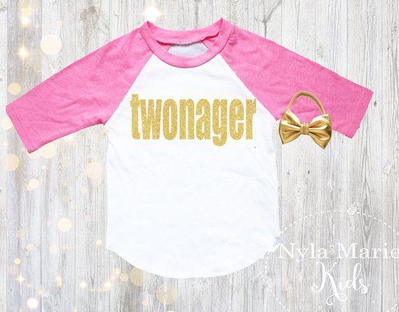 2659d23c 2nd Birthday Shirt Girl, Second Birthday Outfit, Two Birthday Shirt, Girl  3/4 Sleeve Pink Raglan Baby Girl Headband, Two Birthday Outfit,