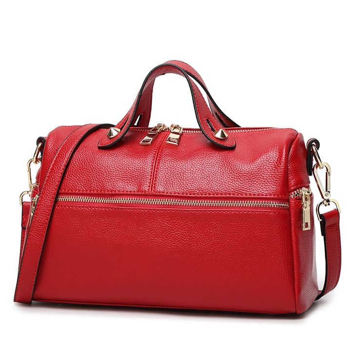 56.00$  Watch here - http://alix91.shopchina.info/go.php?t=32796494217 - 2017 Top Quality Cow Leather Women Handbags Lady Messenger Crossbody Bags Famous Designer Brand Boston Bags ElUnico 1825 56.00$ #magazine