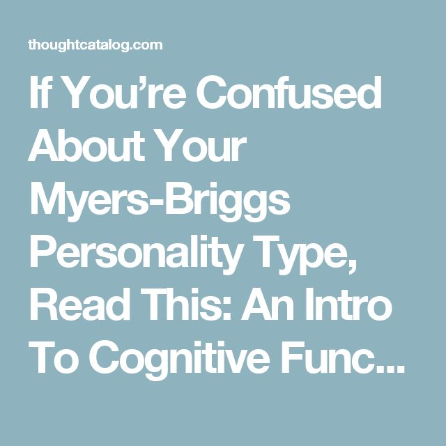 "an introduction to the psychological type and the myers briggs type indicator It's called the myers-briggs type indicator , ""and the sixteen distinctive types described by the myers-briggs have no this personality type in my."