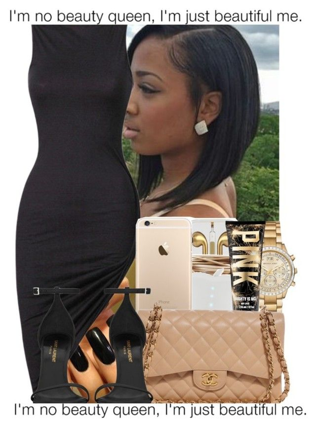 """""""✨."""" by xluxaryx ❤ liked on Polyvore featuring Michael Kors, Chanel and Yves Saint Laurent"""