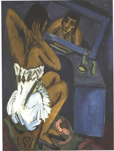 Woman before the Mirror - Ernst Ludwig Kirchner