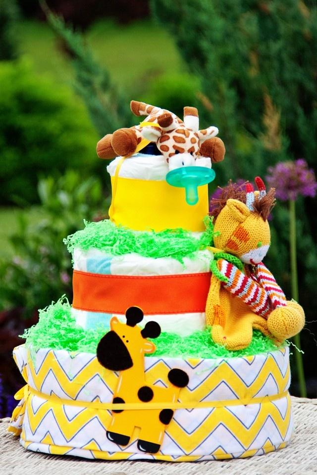 All Diaper Cakes   3 Tier Giraffe Theme Diaper Cake, $89.95 (http:/ · Baby  Shower ...