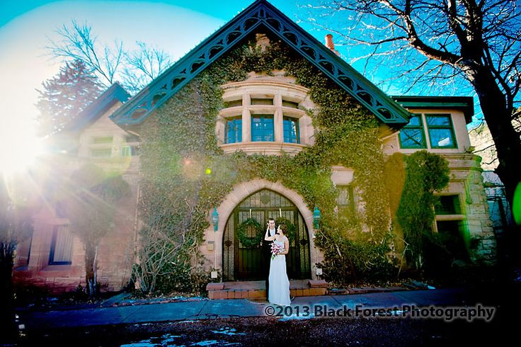 The Briarhurst Manor in Manitou Springs, Colorado. A historic wedding venue with award winning food. One of the best wedding venues for photography. Wedding photography by: http://www.blackforestphoto.com #briarhurstmanorweddings #weddings #coloradoweddingvenues