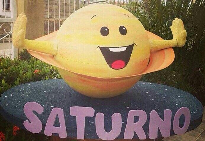 Maqueta 3D de Saturno