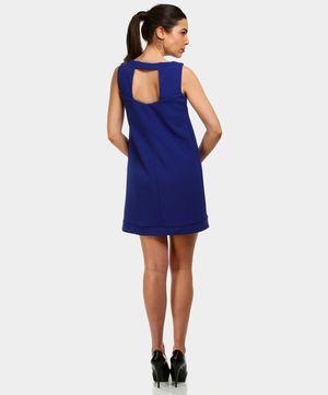 SANDRO FERRONE // Abito a tinta unita blu con scollo sulla schiena // oggi su www.privalia.com