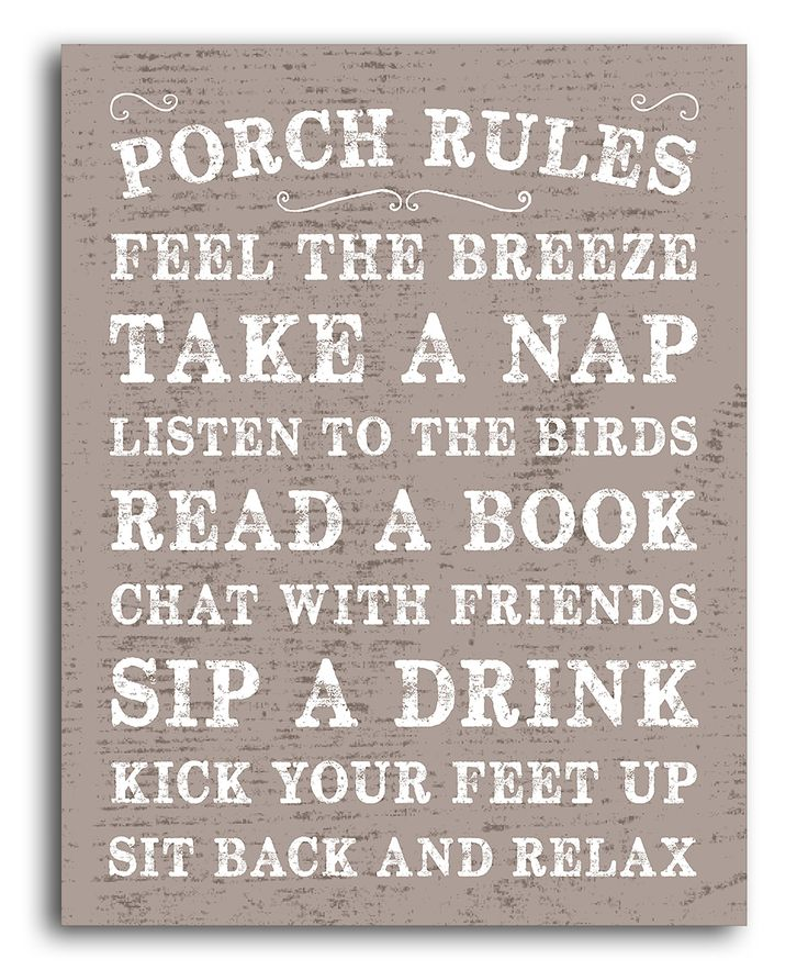 'Porch Rules' Print