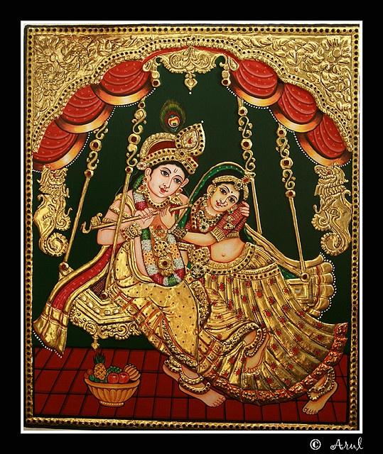 Beautiful Tanjore Painting.