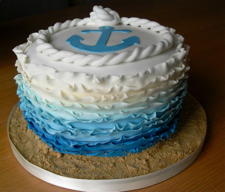 blue ombre wedding cake - Google Search