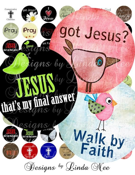 CHRISTian Quotes and Sayings (1 Inch round) CHRISTIAN, Digital Collage sheet, Bottle Cap Images, 1 I