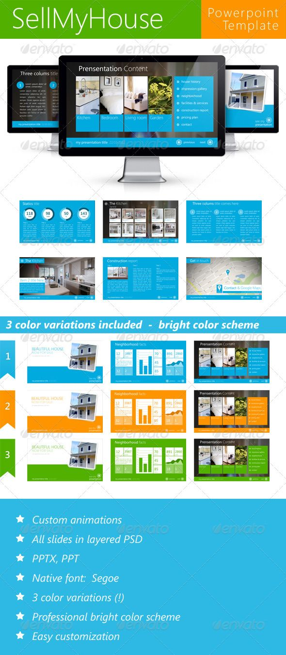 Sell My House Metro - Business Powerpoint Templates