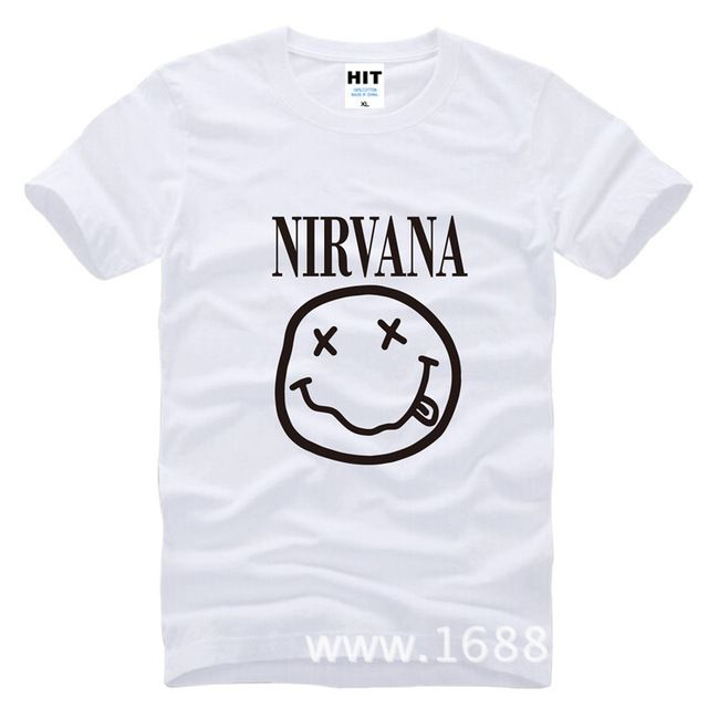 Check current price NIRVANA Smiley Face KURT COBAIN Happy Nevermind Grunge rock Mens Men T Shirt Tshirt 2015 Cotton T-shirt Tee Camisetas Hombre just only $10.02 with free shipping worldwide  #tshirtsformen Plese click on picture to see our special price for you