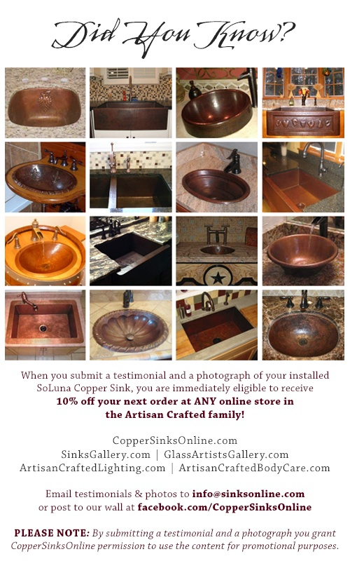 Elegant Did You Know? Copper SinksDid You KnowTubsPhoto Galleries