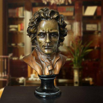 Европейские творческий Мода как искусство статуя смолы украшения украшения подарки украшения дома Бетховен Аватар