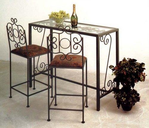 Кованые барные стулья для кухни с мягким сиденьем