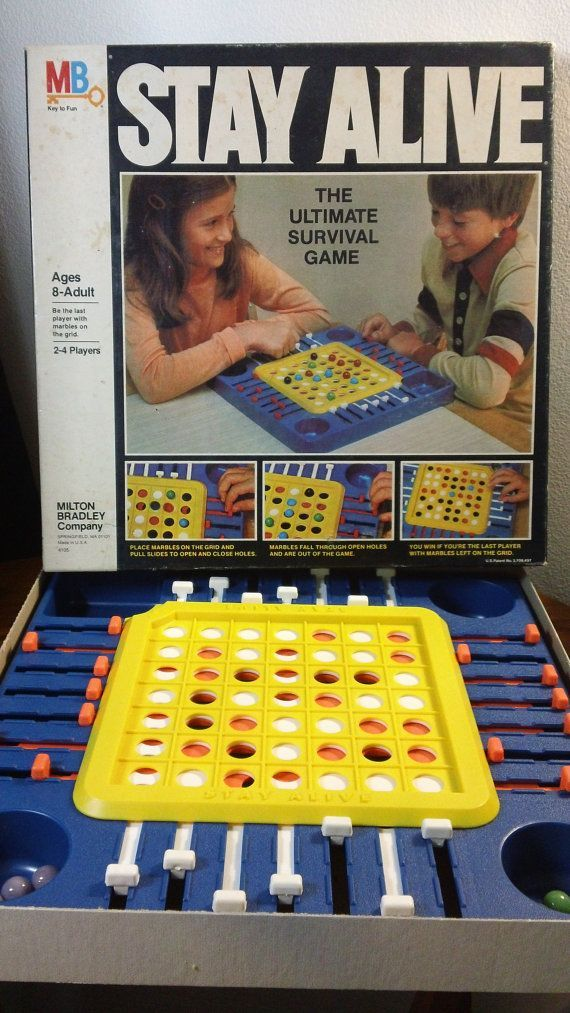 Stay Alive - The Ultimate Survival Game (Milton Bradley Company,1978) - vintage board game