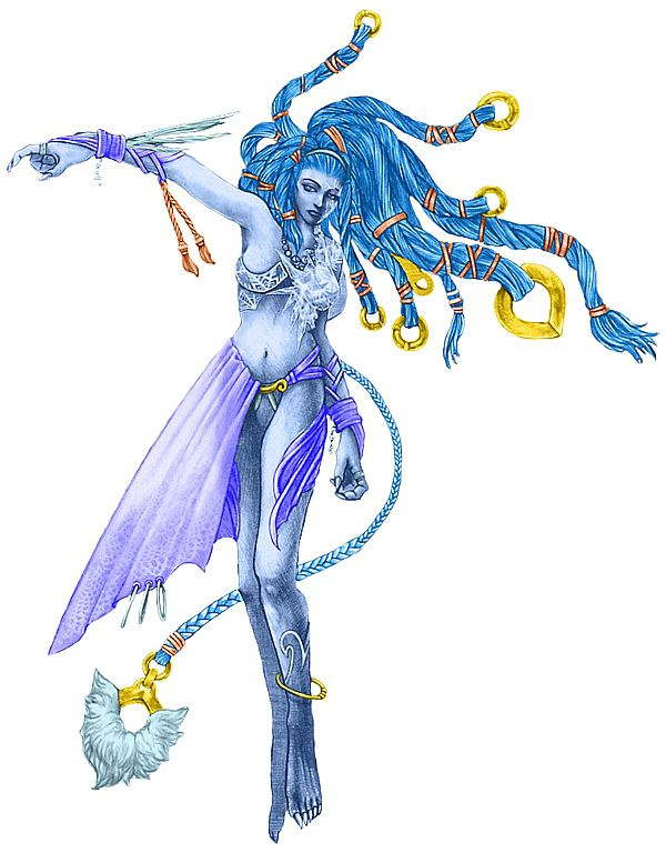 Shiva, as depicted in Final Fantasy X.