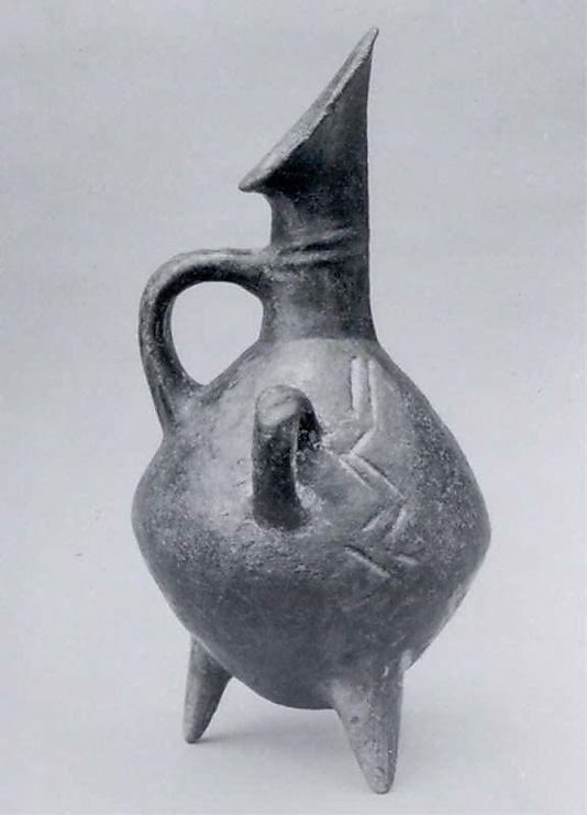 Tripod jug Period: Early Bronze Age II Date: ca. 2700–2400 B.C. Geography…