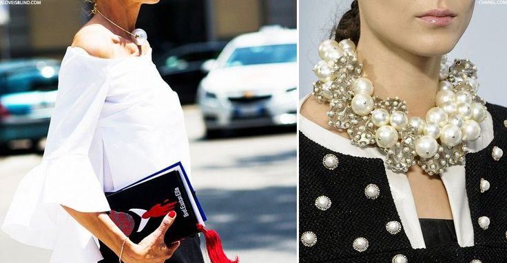 Chunky Pearl Necklaces | sheerluxe.com