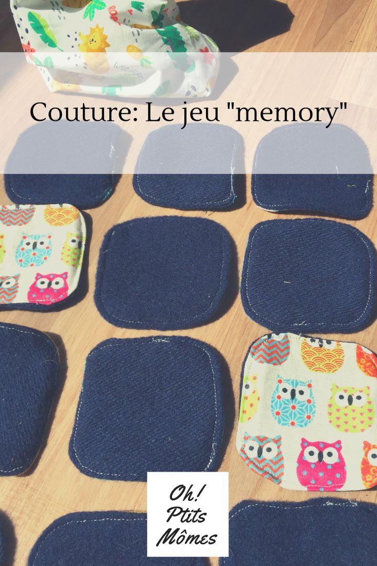 Couture: jeux Memory avec des chutes de tissus