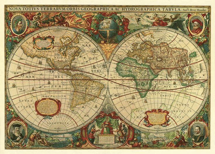17th century world maps early pinterest for Environmental graphics giant world map wall mural