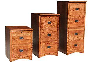 Elegant Mission Style File Cabinet
