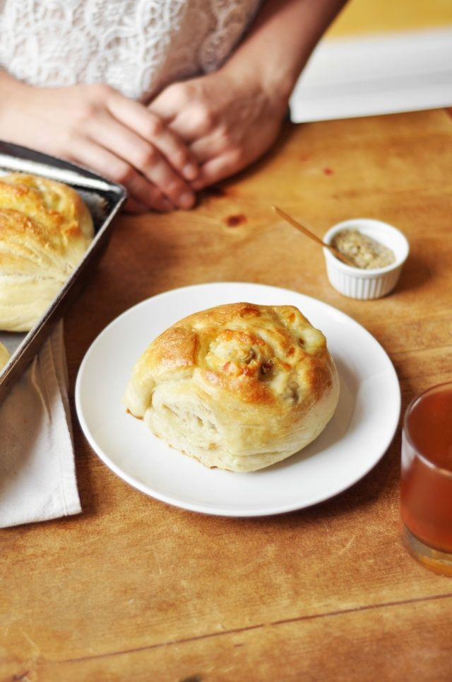 Gruyere and Green Olive Rolls - Super time consuming to make the dough. Very tasty rolls. Good with marinara. Opted to add jalapeño to half for variety.