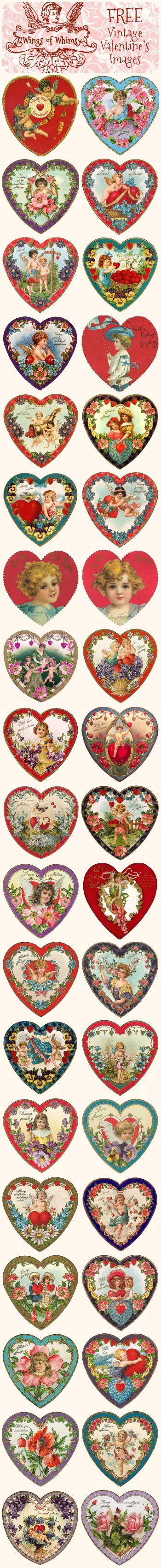 Free Vintage Valentine Heart Images