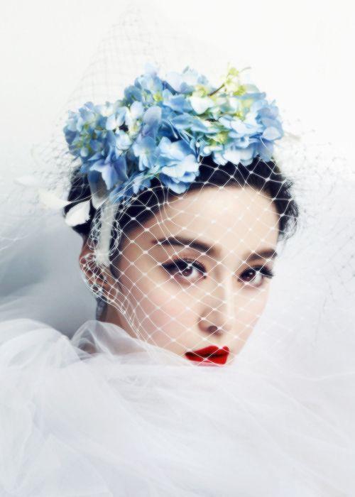 Hydrangea and bird cage veil headpiece: ZsaZsa Bellagio