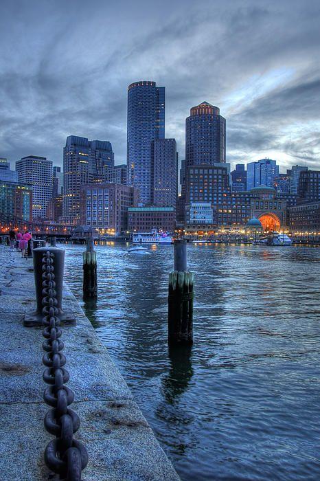 Boston Harbor Skyline Sunset | Massachusetts | Photo By Joann Vitali