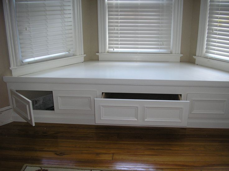 Below seat storage -- drawers and cupboards???