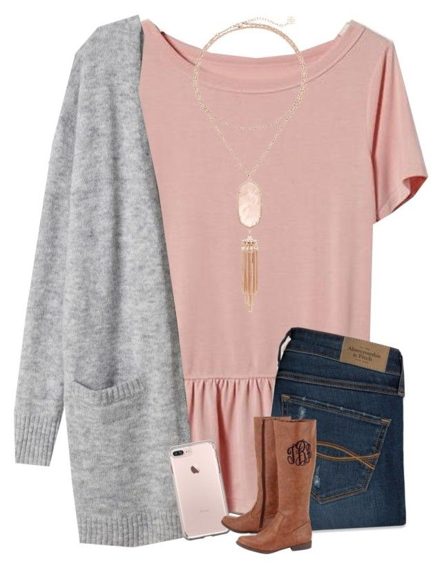 """got a new phone!! ❤️"" by morganmestan ❤ liked on Polyvore featuring Banana Republic, Abercrombie & Fitch and Kendra Scott"