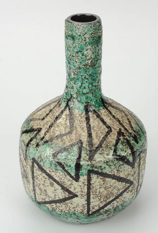 Ingrid Atterberg; Glazed Ceramic Vase for Upsala Ekeby, 1950s.