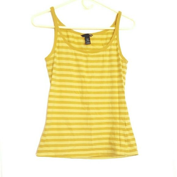 Striped Tank Top This is a yellow striped Tank top from H&M, worn once and in perfect condition. H&M Tops Tank Tops
