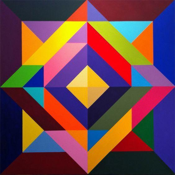 Pintura geometrica contemporanea geometr a pinterest for Cuadros con formas geometricas