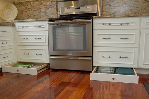 Kitchen drawers vs cabinets homeimprovement for Kitchen cabinets vs drawers