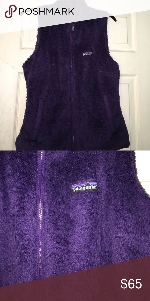 FURRY PATAGONIA VEST FOR SALE Super cute and comfy worn three times and it's perfect for this time of year! MAKE ME AN OFFER Patagonia Tops