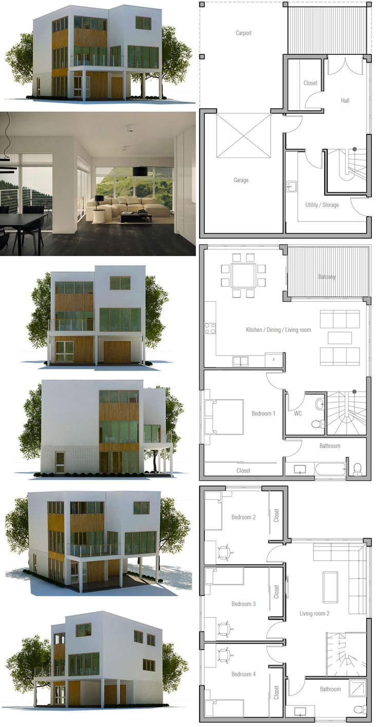188 best images about house plans contemporary modern for One floor contemporary house design