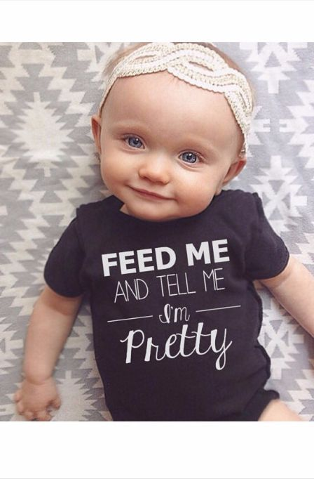 Is she not the cutest thing ever? Love this onsie! Great baby gift!