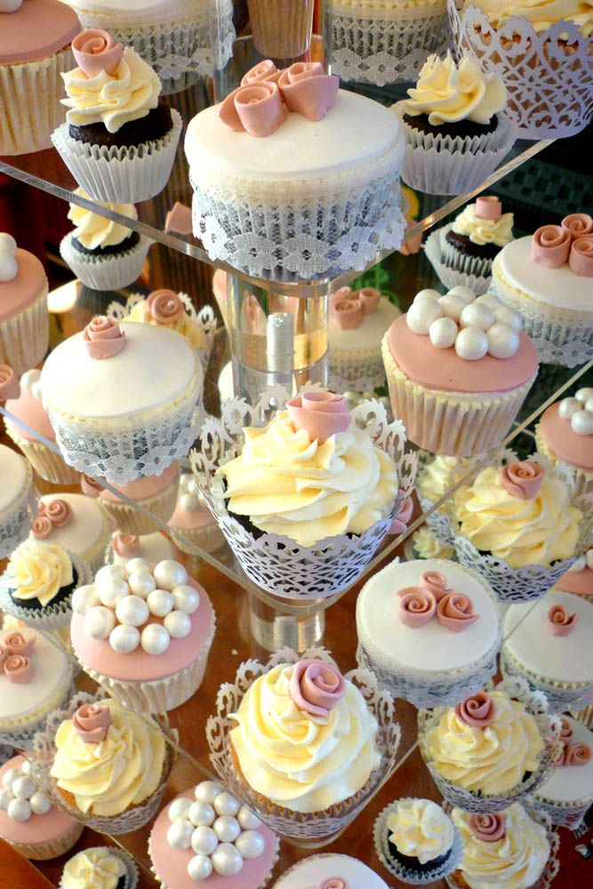 36 Totally Unique Wedding Cupcake Ideas ❤ See more: http://www.weddingforward.com/unique-wedding-cupcake-ideas/ #wedding #cupcake #ideas