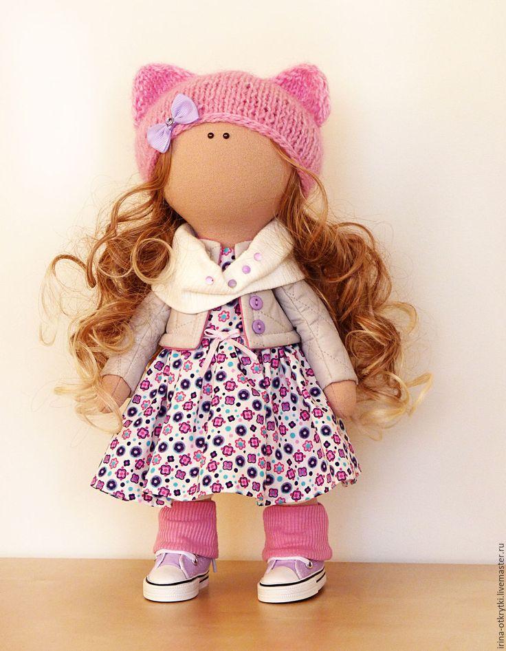 Купить Текстильная кукла - розовый, кукла, кукла ручной работы, подарок для девушки, подарок для женщины